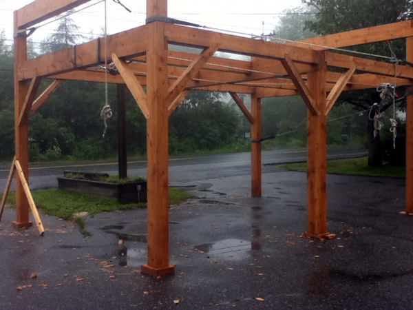 14 x 20 foot Hemlock timber frame
