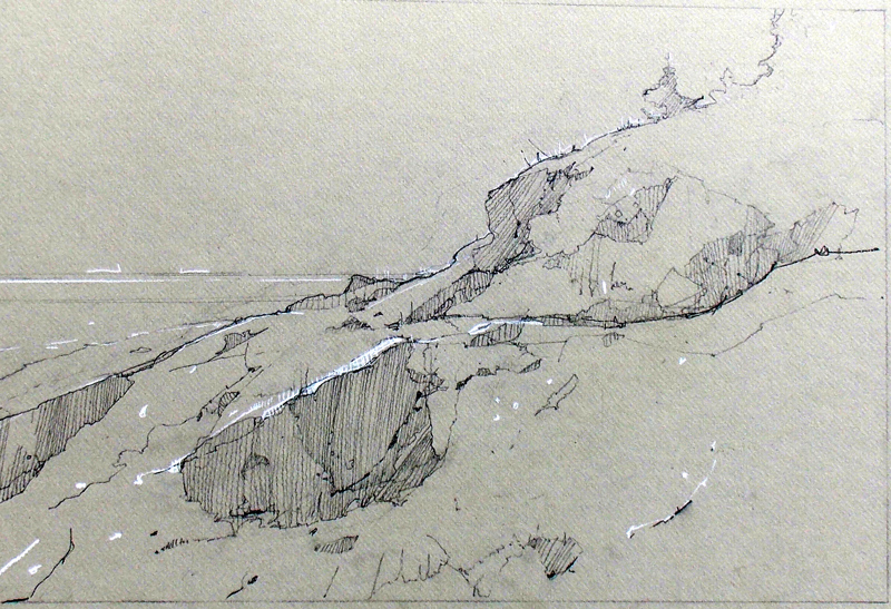 Graphite and Conte, 12 x 18 inches, July 2012