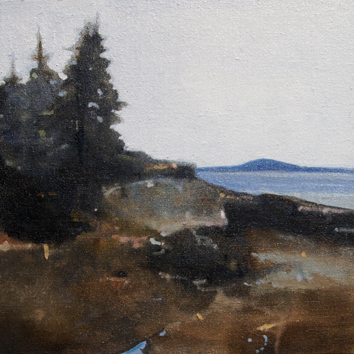 Otter Point, Left, 12 x 12 inches oil on linen